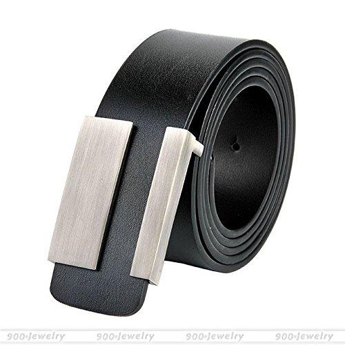 Vestito Cinture La Cinghia 129 Centimetri Pelle Degli Lega Crosta Girovita Fibbia Uomini Nero Nero Cinghia WqqIS4