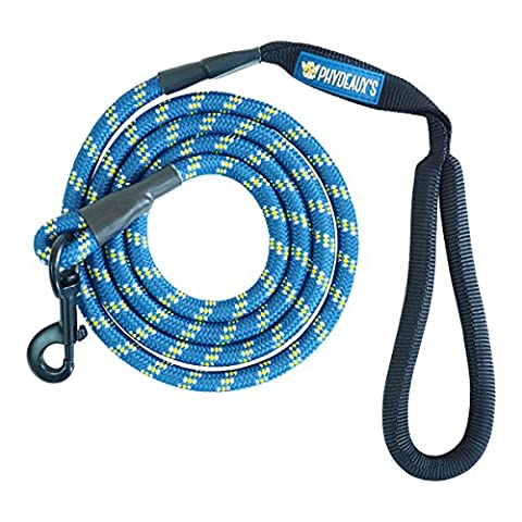 Phydeaux's Mountain Climbing Rope Dog Leash - 6 ft Long - Heavy Duty - Perfect for Medium and Large Dogs (Blue)