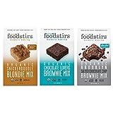 Foodstirs Snickerdoodle Blondie, Chocolate Lovers Brownie, and Brooklyn Brownie Mix, 44.8 Ounce, 3 count Variety Pack