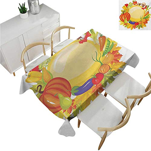 Bell Peppers Shrimp - familytaste Harvest,Party Table Cloth,Garden Products from Whole Year Mushroom Bell Peppers Carrot Leek Healthy Life,Table Flag Home Decoration 50