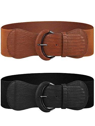 2 Pieces Wide Elastic Belts...
