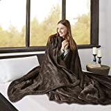 Beautyrest Elect Electric Blanket with 20 Heat Level Setting Controller, Queen, Chocolate