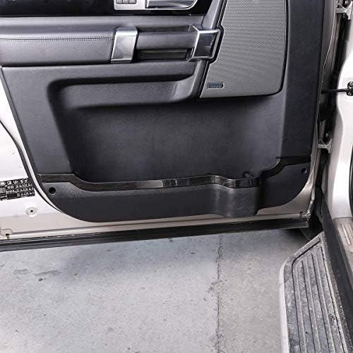 車のABSブラックウッドグレインインテリアドアトリムストリップに適していますランドローバーディスカバリー4 LR4 2010-2016
