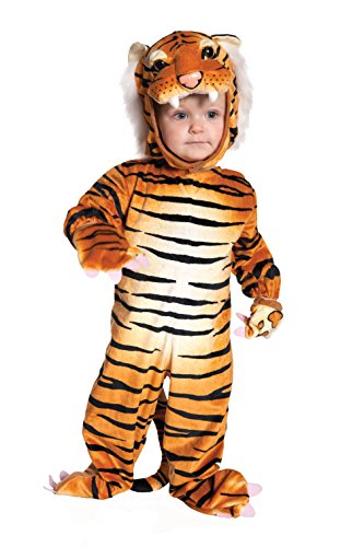 Underwraps Baby's Tiger Costume Jumpsuit, Brown, X-Large(4-6 Yrs)