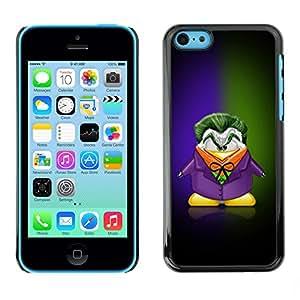 SENSO Prima Delgada SLIM Casa Carcasa Funda Case Bandera Cover Armor Shell PC / Aliminium //Funny Cartoon Joker //Apple Iphone 5C