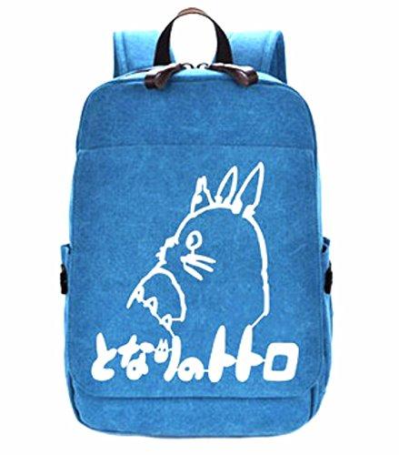 rare Schultertasche Tasche Shoulder Bag Rucksack reisetaschen Blau Logo Totoro new