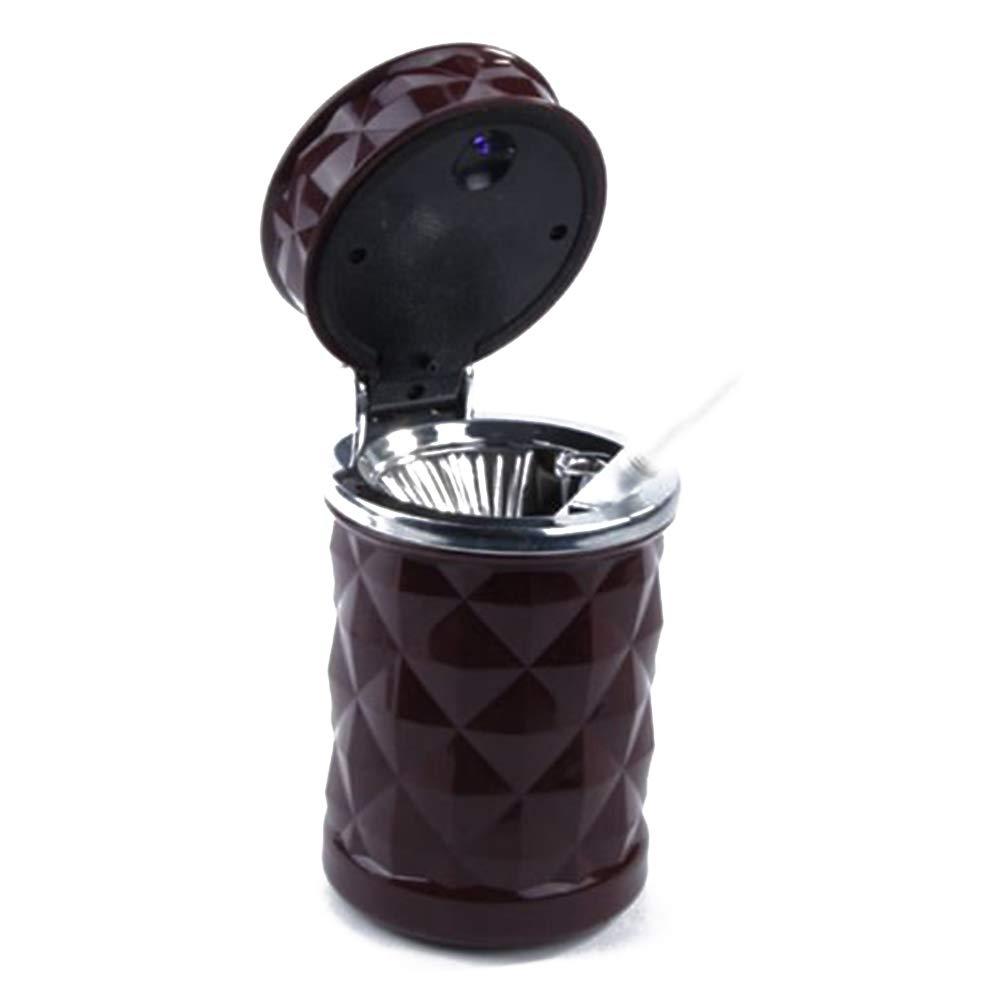 Newin Star 1 PZ LED Posacenere per Auto Portatile per Auto da Viaggio LED Light Posacenere per Sigarette Porta Cenere Cup Colore Casuale