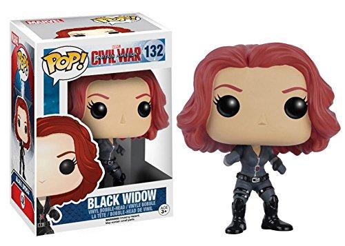 Natasha Romanova Costume (Captain America: Civil War - Black Widow POP Figure Toy 3 x 4in)