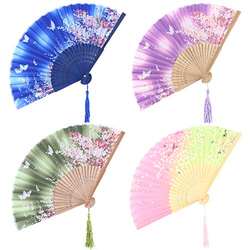 Handheld Silk Folding Fan