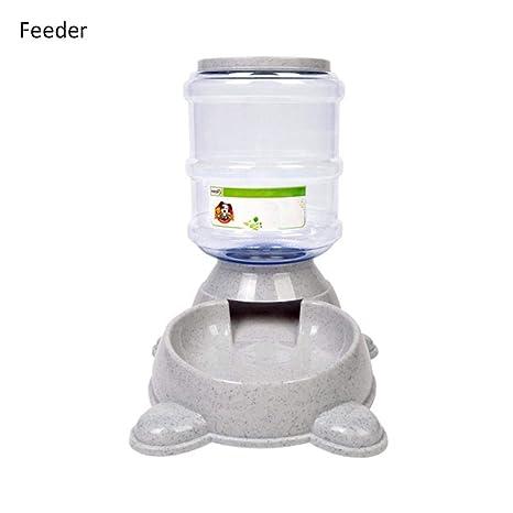 ehind dispensador de Comida Food Feeder Dispensador Automático de Agua para Animales compañía 3.8L