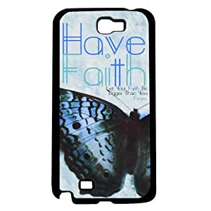 Blue Beautiful Butterfly 'Have Faith' Hard Snap on Phone Case (Note 2 II)