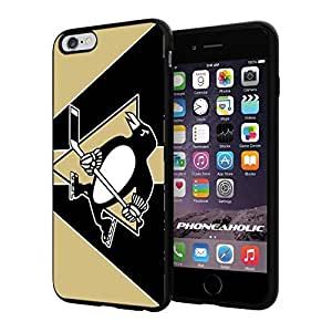 NHL HOCKEY Pittsburgh Penguin Logo, Cool iphone 6 Smartphone Case Cover Collector iphone TPU Rubber Case Black