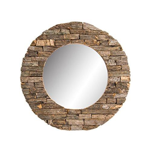 Mirror - Davina Home Classic Wooden Wall Mirror - Handmade Wall Mirror, Decorative Mirror, Large Mirrors, Handmade Wood Art, Round 24