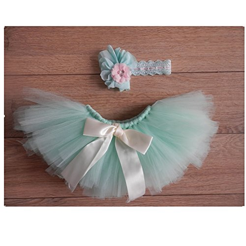 Newborn Photography Prop: Baby Girl Tutu Skirt/Headdress Set