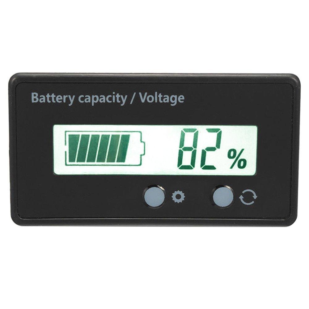Wanyi capacità della batteria monitor LCD Diasplay gauge Meter 12V/24V/36V/48V indicatore della batteria al piombo, batteria al litio capacità tester di tensione del monitor per veicolo batteria