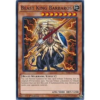 3 x BEAST KING BARBAROS - Common Yu-Gi-Oh YS18-EN013-1st NM