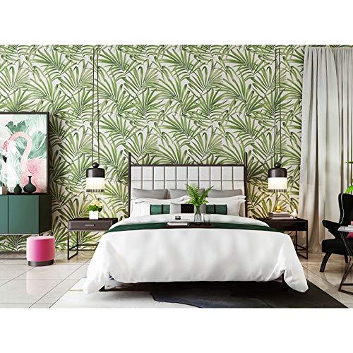 Amazon.com: Moderno papel pintado de palma hoja dormitorio ...