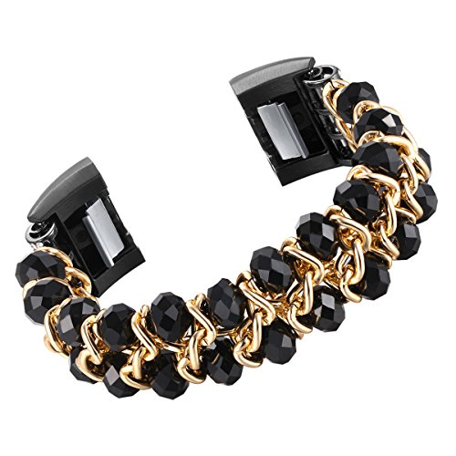 fastgo Compatible for Fitbit Charge 2 Bands, Elastic Classic Jewelry Compatible Charge 2 Bracelet Bands for Women or Girls Smart Watch by fastgo (Image #4)