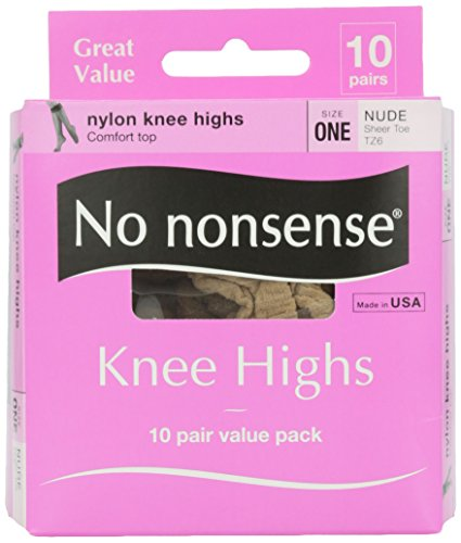 Nonsense Value Pack - No Nonsense Knee High Value Pack, Nude Color, 10 ct