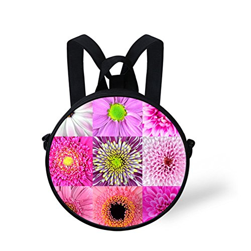 FancyPrint Casual for Flowers Bag Women Shoulder Women V6ld0446i Bag Print and Girls Round ZwxZqTrO