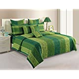 Yuga 100% Cotton FloralPremium Quality Green 1 Pc Duvet Cover Queen Size 90 x 100 Inches