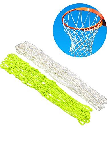 Jovitec 2 Pieces Glowing in The Dark Basketball Net Luminous Basketball Net Outdoor Sports Nylon Basketball Hoop Rim Net, 2 Colors – DiZiSports Store