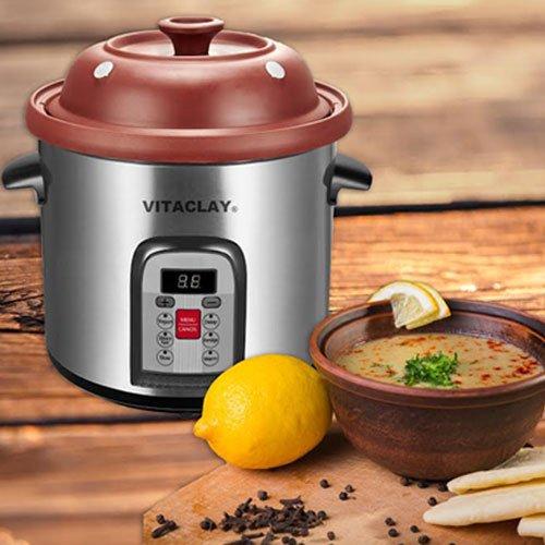 vitaclay-vm7800-5c-smart-organic-clay-multi-crocks-n-stock-pot-65-quart-stainless-steel-black