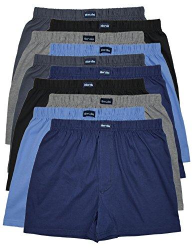 10 Boxershorts ohne Eingriff in 5 Farben - locker & weiche Unterhose Short Boxer 100% Baumwolle 10er Spar Pack Jungen Man M L XL 2XL 3XL 4XL