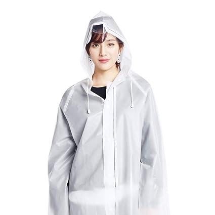 91f2ba431f0 Sport Rain Jacket EVA Transparent Reusable Rain Cover Raincoat Poncho  Sleeves Men And Women Adult Students