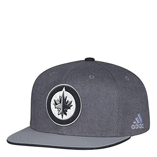 fan products of adidas NHL Winnipeg Jets Men's Pro Authentic Travel & Training Snapback Hat, One Size, Gray