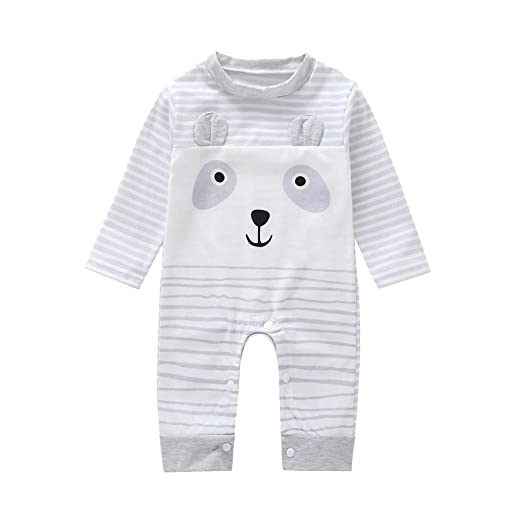 37539b171237 Amazon.com  Kehen Infant Baby Girl Boy Cotton Pajamas Long Sleeve ...