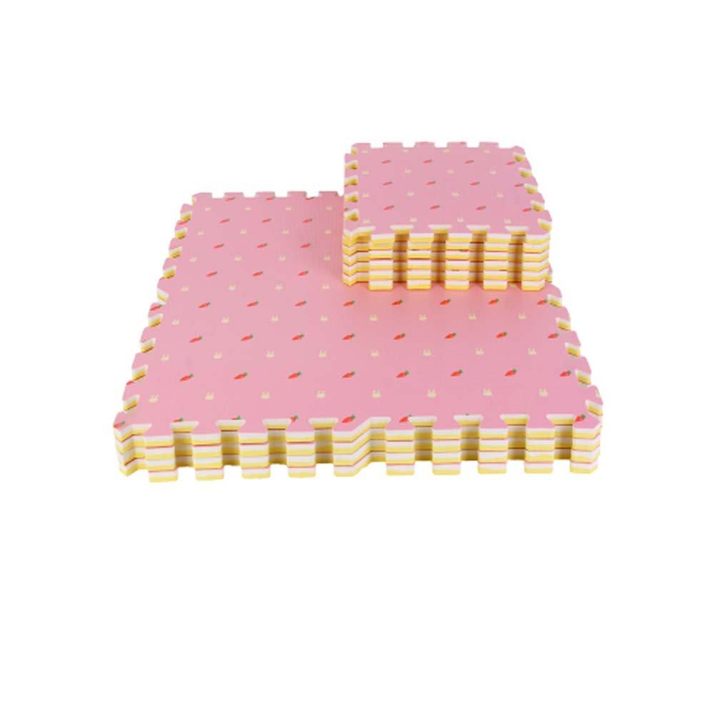 rosa 16 piezas de colchonetas de espuma impermeables para ni/ños Alfombra de juego de puzzle esponja infantil