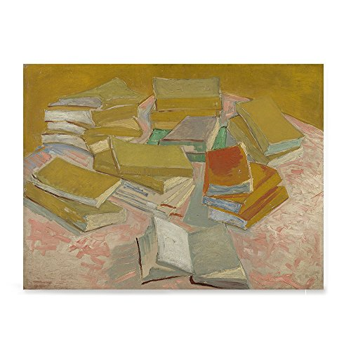 nt Van Gogh Art Reproduction Posters - Poster Printing - Wall Art Print for Home Office Decor - PILES OF FRENCH NOVELS - 16X12 inches ()