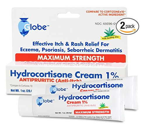 Amazon.com: Hydrocortisone Maximum Strength CREAM 1% with ALOE, 3 OZ  (Compare to Cortizone-10) (3 x 1 OZ Tubes): Health & Personal Care