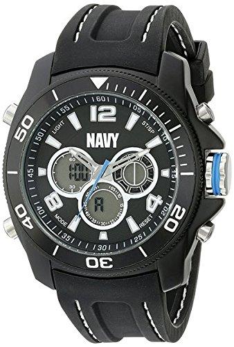 Wrist Armor Men's 37400009 U. S. Navy Analog-Digital Display Quartz Black Watch - Black Navy Wrist Watch