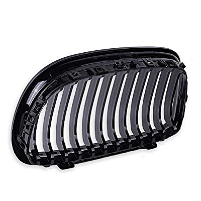 runmade Left Right Front Kidney Grille Grill Glossy Black W/M Color for 2009 2010 2011 BMW E90 316i 318i 320i 323i 325i 328i 330i 335i: Automotive