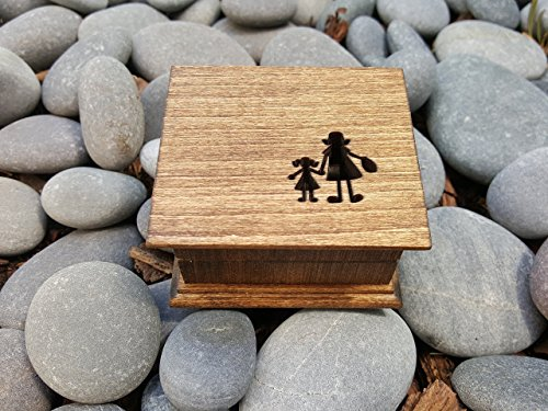Custom engraved music box with mother and daughter holding hands image or mother and son holding hands, great gift for mom, mother of bride gift, mother's day gift, simplycoolgifts