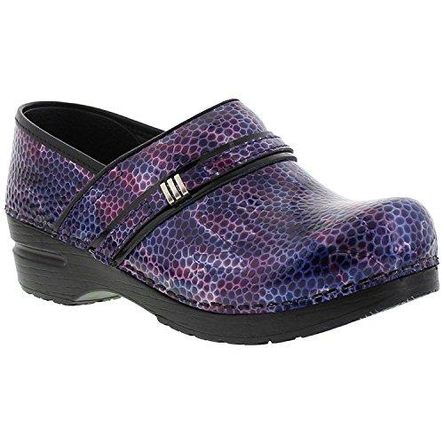 Sanita Women's Original Emory Clogs, Purple Leather, Poly...
