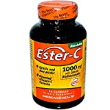 American Health Ester-C with Citrus Bioflavonoids Capsules - 24-Hour Immune Support, Gentle On Stomach, Non-Acidic Vitamin C - Non-GMO, Gluten-Free - 1000 mg, 90 Count, 90 Servings