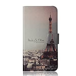 BLU Sport 4.5 Leather Case Flip Cover, Formalized Special Flip Painting Cartoon Case Cover for BLU Sport 4.5 , with Wallet and Stand Ability, inside card slots (Eiffel)