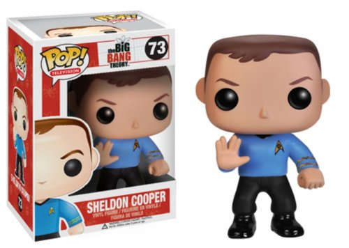 Funko POP Television Sheldon Star Trek Vinyl (Sheldon Outfit)