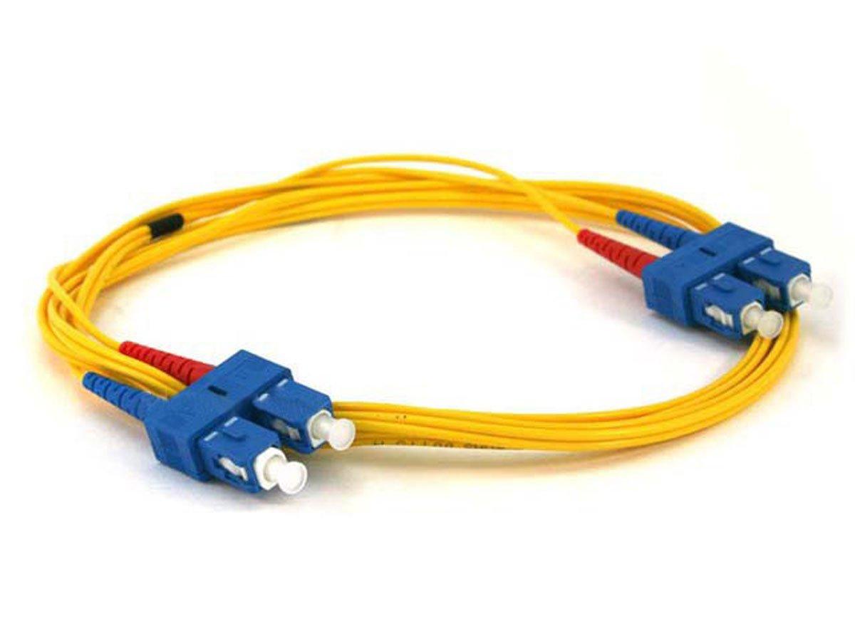 Monoprice 104628 2-Meters SC/SC Single Mode Duplex Fiber Optic Cable - Yellow