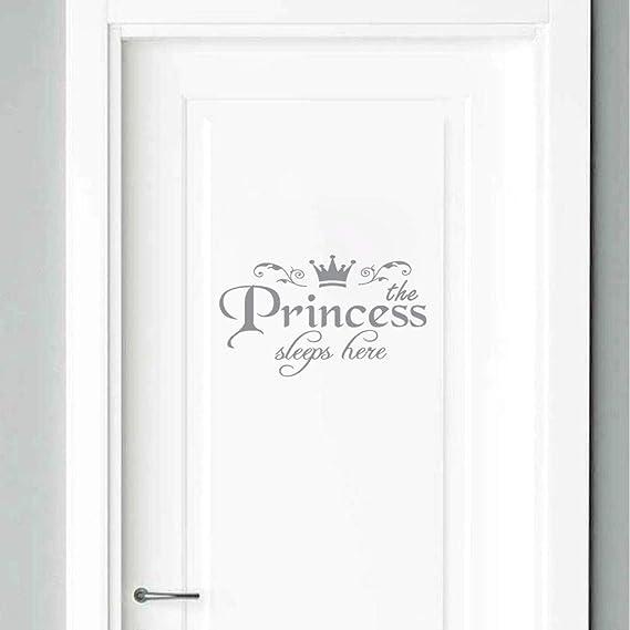 YWLINK Princesa DecoracióN para El Hogar Etiqueta De La Pared CalcomaníA Dormitorio Puerta Vinilo Art Mural: Amazon.es: Hogar
