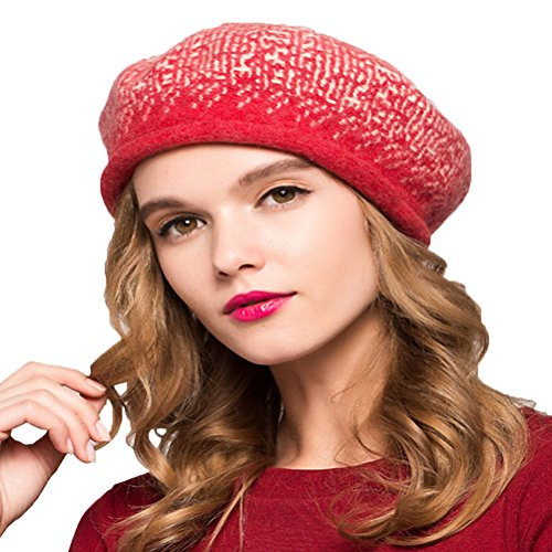 "Maitoseâ""¢ Women's Classic 100% Wool Beret Red"