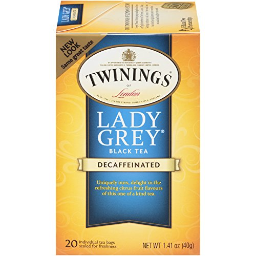 (Twinings of London Decaffeinated Lady Grey Black Tea Bags, 20 Count (Pack of 6))