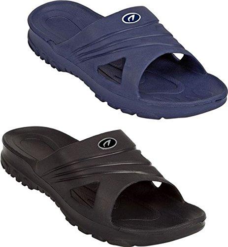 Schreuders Zapatillas de deporte, Unisex, Sport, negro, 40 azul marino