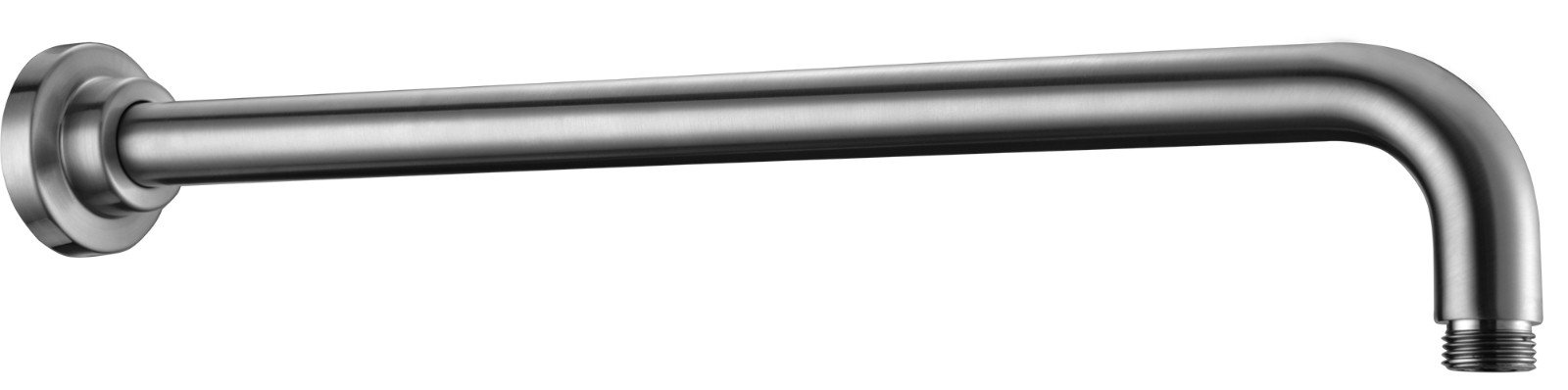 ALFI brand AB20WR-BN Round Wall Mounted 20'' Shower Arm, Brushed Nickel