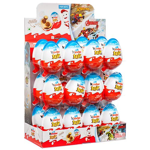New 374447 Kinder Joy Surprise Egg Boy 24Ct (24-Pack) Chocolate Cheap Wholesale Discount Bulk Candy Chocolate by Joy