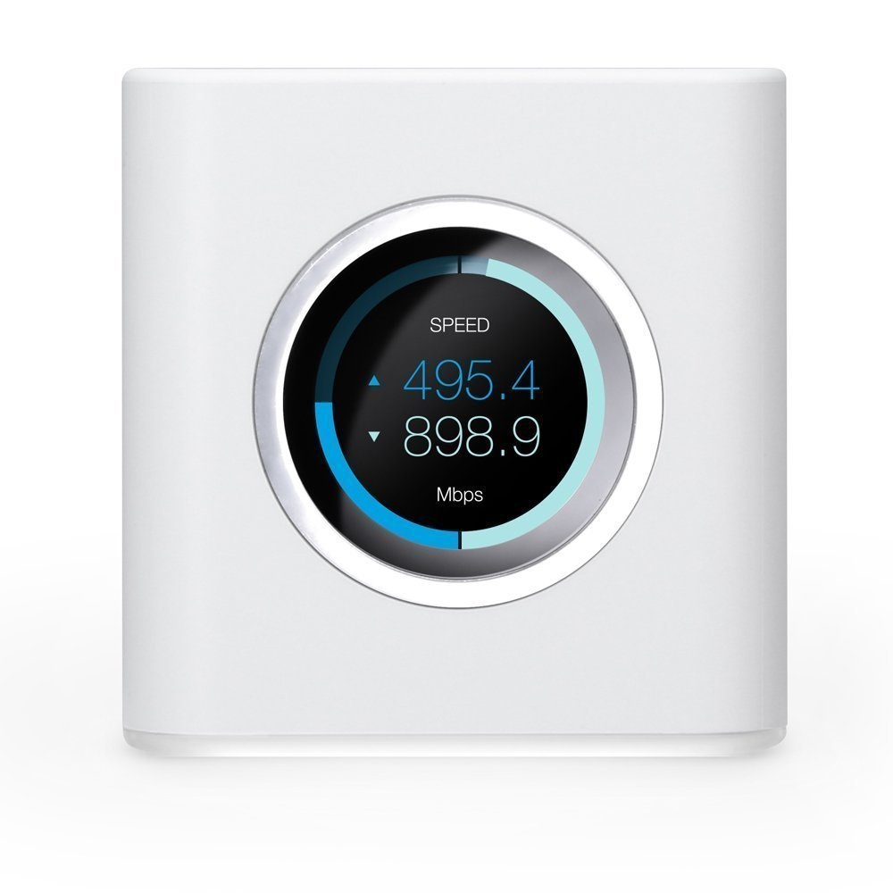 AmpliFi HD WiFi Router by Ubiquiti Labs, Seamless Whole Home Wireless Internet Coverage, HD WiFi Router with Touchscreen Display, 4 Gigabit Ethernet, 1 WAN Port, Ethernet Cable, Expandable Mesh System by AmpliFi
