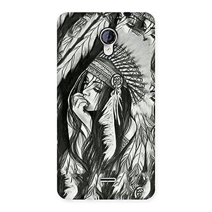 premium hd sketch art back case cover for micromax amazon in